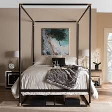 Black Canopy Bed Industrial Black Canopy Bed By Baxton Studio Free Shipping Today