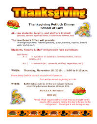 thanksgiving potluck dinner school of akron announcements