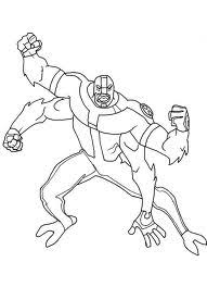 drawing coloring blog ben 10 4 arms coloring pictures