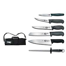victorinox swiss army 46152 7 piece culinary kit w 5 knives