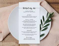 wedding menu templates free printable wedding menus wedding menu template wedding