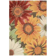 Indoor Outdoor Rugs Home Depot by Sunflower Outdoor Rugs Rugs The Home Depot