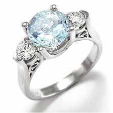 aquamarine and diamond ring anzor jewelry 14k white gold aquamarine diamond anniversary ring