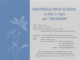 high school class reunion invitations welcome to the 40th reunion status page