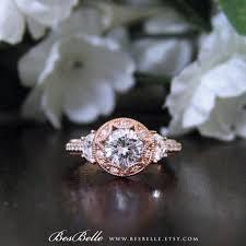 2 0 ctw art deco engagement ring brilliant cut diamond simulant
