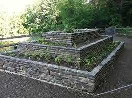 Rock Vegetable Garden Fall Rock Raised Garden Beds Raised Bed Vegetable Garden