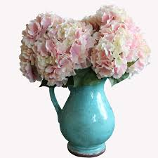 silk hydrangea 1pc artificial 5 heads big flores silk hydrangea decorative