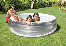 round swim center family pool intex