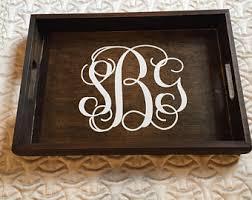 monogrammed tray monogrammed tray etsy