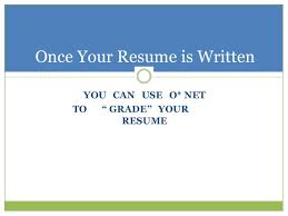 Grade Your Resume Resume Evaluation In Three Words 07312015
