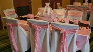 chair covers for baby shower photos baby shower and pink linens linentablecloth
