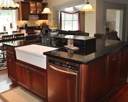 island kitchen island with dishwasher and sink