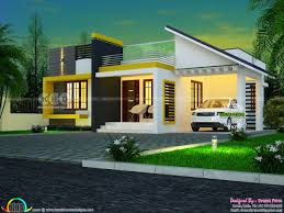 one floor contemporary style 3 bhk home plan kerala home design