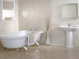 floor ideas for small bathrooms glossy beige tile flooring ideas for small bathrooms using antique