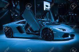 cars lamborghini blue guangzhou china nov 26 lamborghini aventador lp700 4 sport