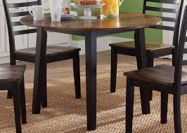 round fix top table in two tone finish by liberty furniture wolf