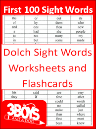 first 100 dolch sight words printables sight words printables