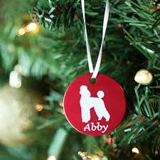 personalized dog breed christmas ornaments dogids