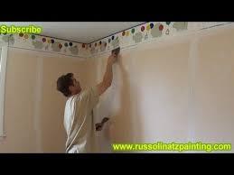 diy paint over vinyl wallpaper u0026 border part 2 youtube