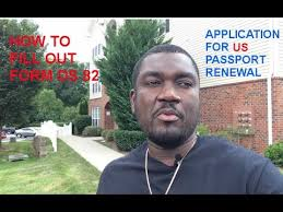 how to fill out form ds 82 us passport renewal application youtube