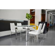 bellona 5 piece extendable dining set table wf330 tw white