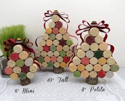 wine cork tree buttons hold the ribbon at the top