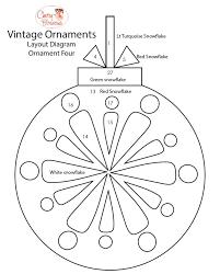 vintage ornaments quilt along medallion blocks weallsew