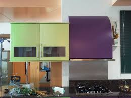 kitchen appealing cool purple and white kitchen design