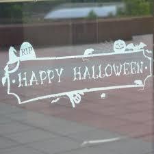 window clings halloween happy halloween decal banner u2013 window flakes
