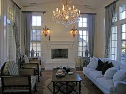 Decorating Ideas For High Ceiling Living Rooms Living Room Luxury Chandelier Living Room With High Ceilings