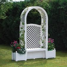 the rosarium archway bench hammacher schlemmer