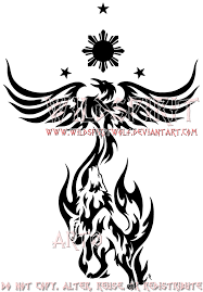 philippine sun stars phoenix and wolf tattoo designs photo 3