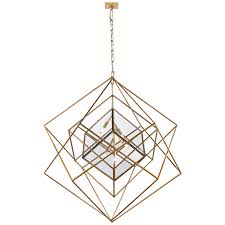 Kelly Wearstler Lighting by Visual Comfort Kelly Wearstler Cubist Large Chandelier In Gild