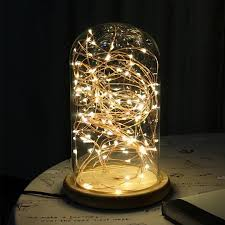 5w glass table lamp ac 110v 240v creative personality diy led