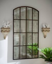 Exterior Beautiful Arched Mirror Design Ideas With Rustic Arched