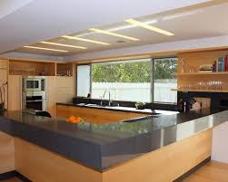 contemporary kitchen design with informal type uses granite