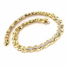 gold braided necklace images Italian choker necklace diamond necklace diamond chocker estate jpg