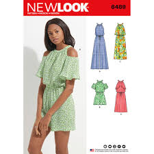 jumpsuit stitching pattern misses jumpsuit romper and dress new look sewing pattern 6489 sew