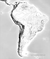 Blank Map Latin America by South America Physical Map U2013 Freeworldmaps Net