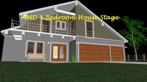 mmd 4 bedroom house stage converted in sketchup by swiftcat