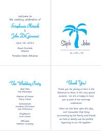 simple wedding program wording wedding programs complete diy forum passport invitation