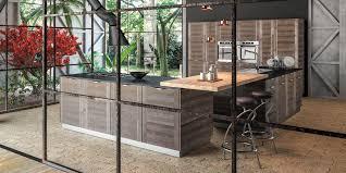 cuisine en metal cuisine contemporaine en métal en bois avec îlot cervin sagne