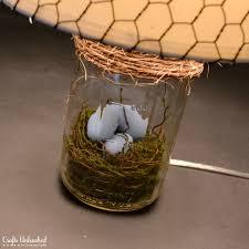 diy lamp bird nest mason jar lamp tutorial