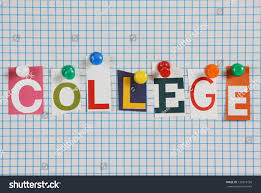 word college cut out magazine letters stock photo 137819750
