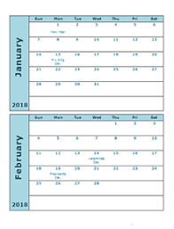 printable 2017 calendar two months per page 2018 three month calendar template free printable templates