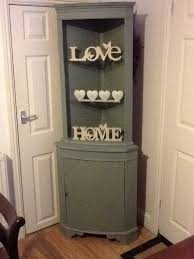 Shabby Chic Corner Cabinet by Annie Sloan Shabby Chic Style Corner Cabinet Shelling Unit
