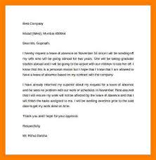 leave letter samples a leave letter for absence how to write a
