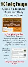 100 reading passages grade 6 daily common core literature and