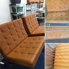 Leather Sofa Refinishing Barcelona Chair Refinishing U2013 New Life Service Co Of Dallas