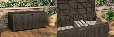 outdoor cushion storage ideas box bag container or chest